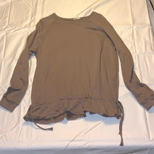 Mocha brown sweat shirt w/ clinch waist